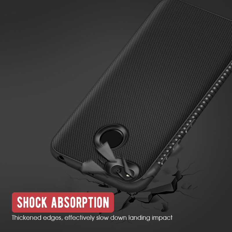 TPU Tahan Guncangan Case untuk Xiao Mi Mi A2 Lite Mi A1 A2 5X 6X untuk Xiao Mi Pocophone F1 Karbon serat Telepon Perlindungan Case Cover Coque