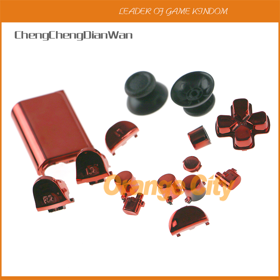 ChengChengDianWan CUH-ZCT2 JDS-040 JDM 040 Thumbsticks Dpad R1 L1 R2 L2 Button Chrome Full Buttons For Ps4 Pro Jds-040