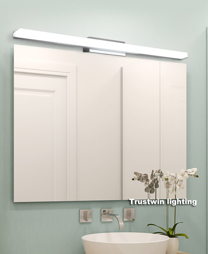 LED Modern Acrylic Mirror Toilet Lighting Mirror Lamp Bathroom Wall - Square bathroom sconce