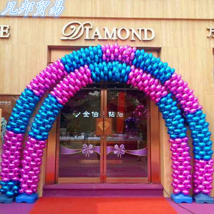clovers aluminium film opened wedding party balloon store opened aluminum foil balloon arch