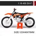 KTM Мотоцикл Модели 450 Ралли 640 DUKE LL 525 SX450 SXF520 SX RC390 1:18 масштаб миниатюрный гонки Игрушки Для Подарка коллекция