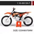 Modelos de Motocicletas KTM 450 Rally 640 DUKE LL 525 SX450 SXF520 SX RC390 1:18 escala miniatura carrera de Juguete Para El Regalo colección