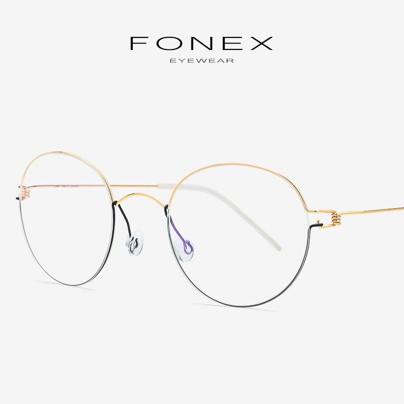 ee649a5db93 Titanium Alloy Eyeglasses Frame Men 2019 Women Brand Designer Prescription  Optical Glasses Myopia Korea Screwless Eyewear 98621