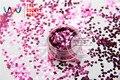 TCM0913 Peonía Roja Colores sensación metálica de Forma de Corazón 3.0 MM Tamaño Brillo para uñas tatto,, decoración de uñas de Arte gel