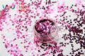 TCM0913  Red Peony Colors metallic feel Heart Shape 3.0MM Size Glitter  for nail,tatto,Art decoration  nail gel