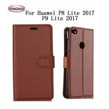 HUDOSSEN For Huawei P8 Lite (2017) Honor 8 Lite PRA-LA1 PRA-LX1 Case Flip Leather Back Cover For Huawei P9 Lite (2017) Phone Bag