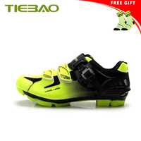TIEBAO Cycling Shoes sapatilha ciclismo mtb Men sneakers Women Bicycle Self locking PU Upper Breathable SPD Mountain Bike Shoes