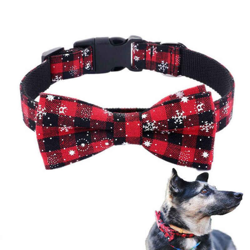 Collar De Perro Para Mascota Corbata de Moño Bowtie Corbata Ajustable Para Navidad Navidad Accesorios