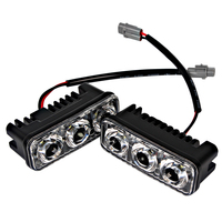 2Pcs DC 12V Car DRL Auto Lamp High Quality Daytime Running Light 6 LED Bulbs Car
