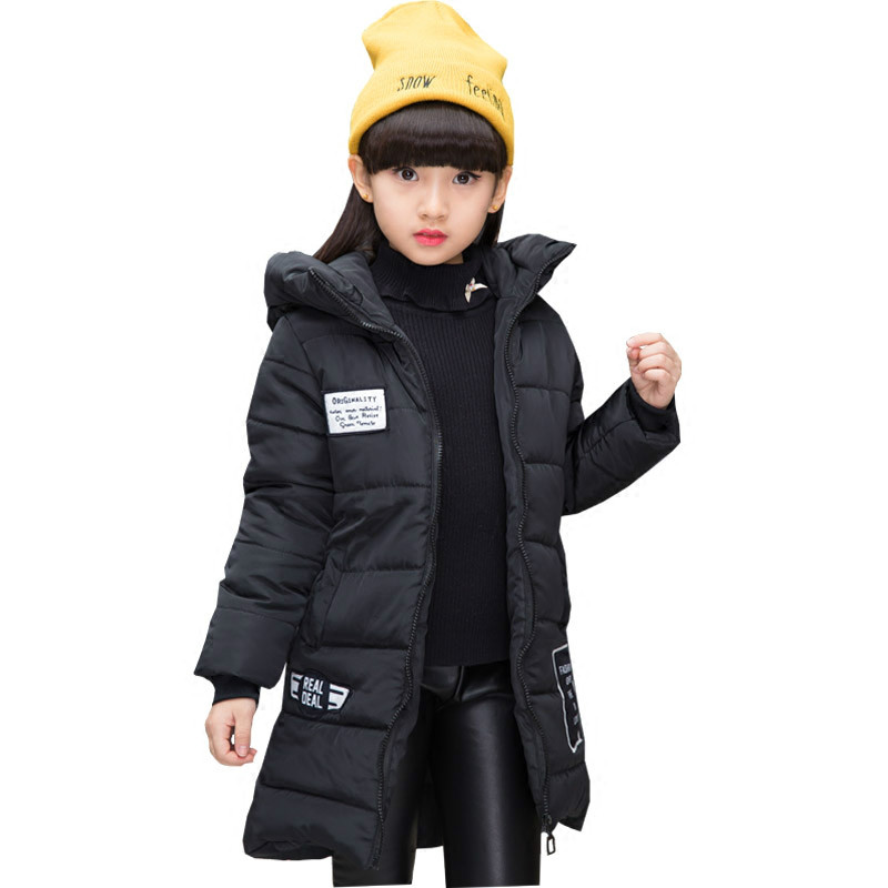 Kids Warm Winter Jacket for Girls Child Wadded Jacket Outerwear Medium-long Cotton-padded Thickening Children's Clothing Coat russia 2016 children outerwear baby girl winter wadded jacket girl warm thickening parkas kids fashion cotton padded coat jacket