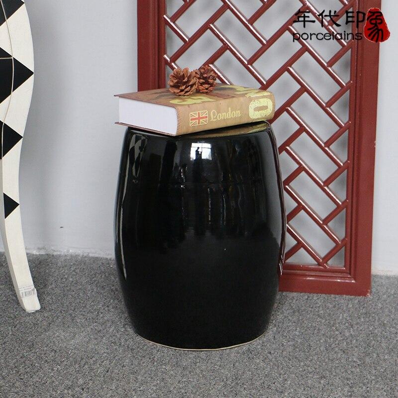 Здесь продается  Oriental Ceramic Porcelain Round Black Stool  Мебель
