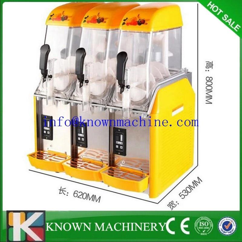 Commercial Slush machine 12L*3 Snow melting machine Three Tank Ice Slusher Cold drink dispenser Smoothies granita machine