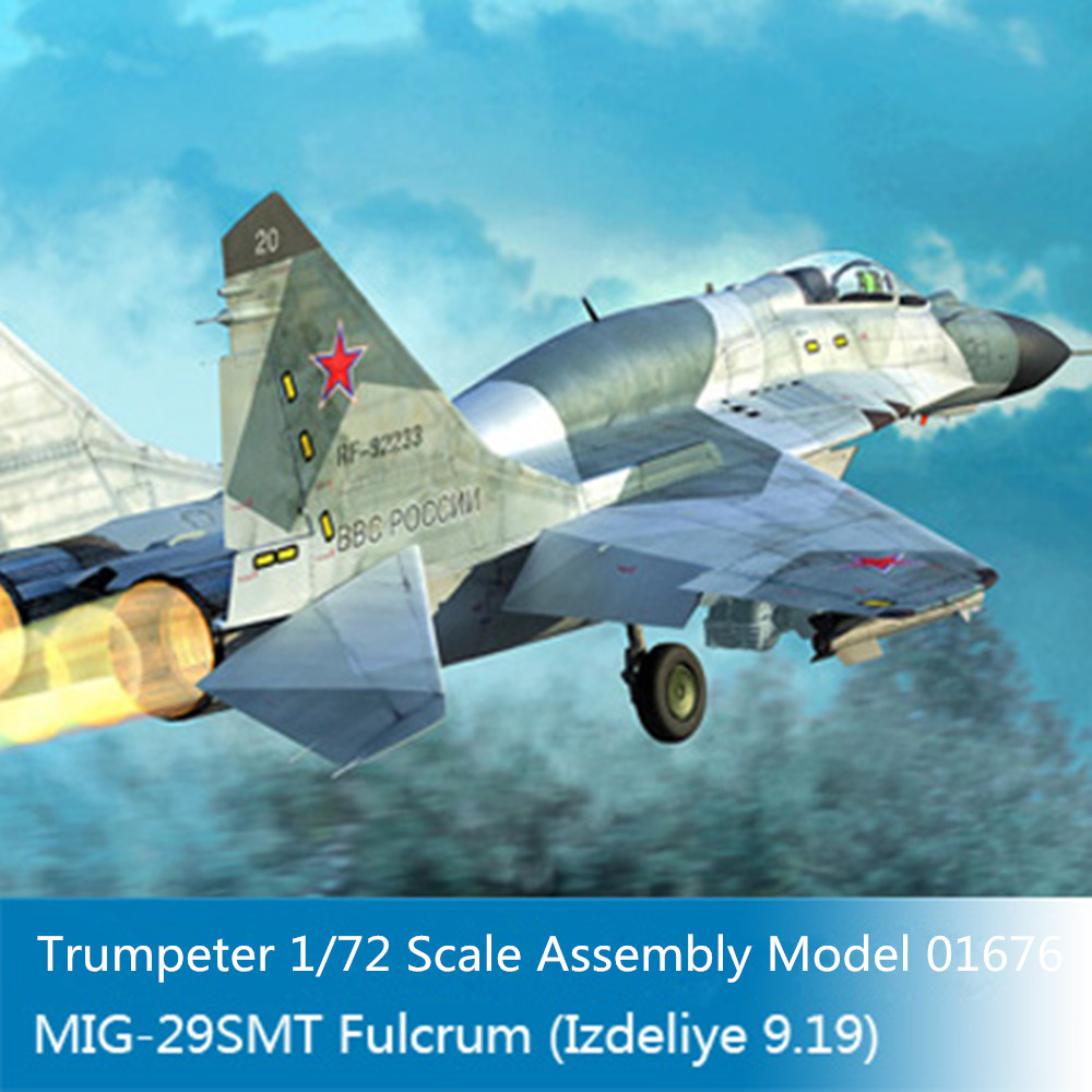Trumpeter 01676 1 72 Scale Russian MIG 29SMT Fulcrum Izdeliye 9 19 Military Pattern Fighter Plastic