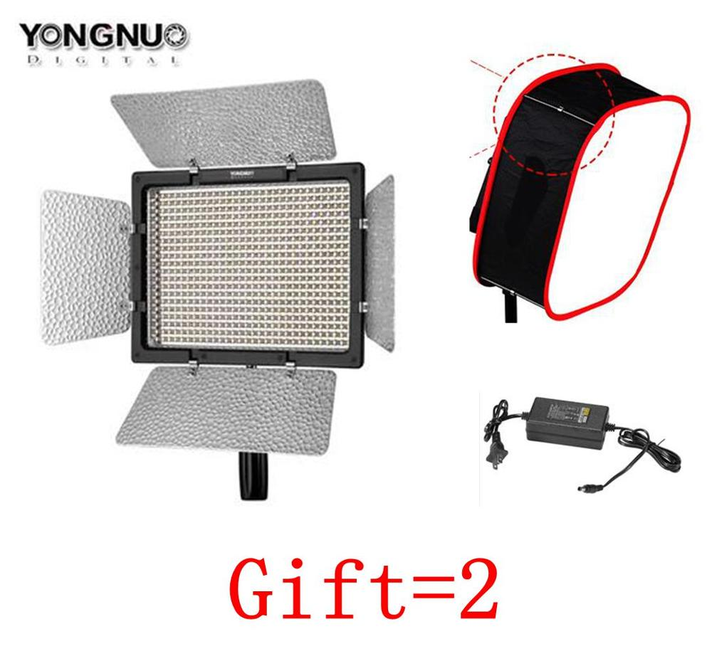Yongnuo YN600 II YN600L II 5500K LED Video Light Falcon Eyes AC Adapter Set Support Remote