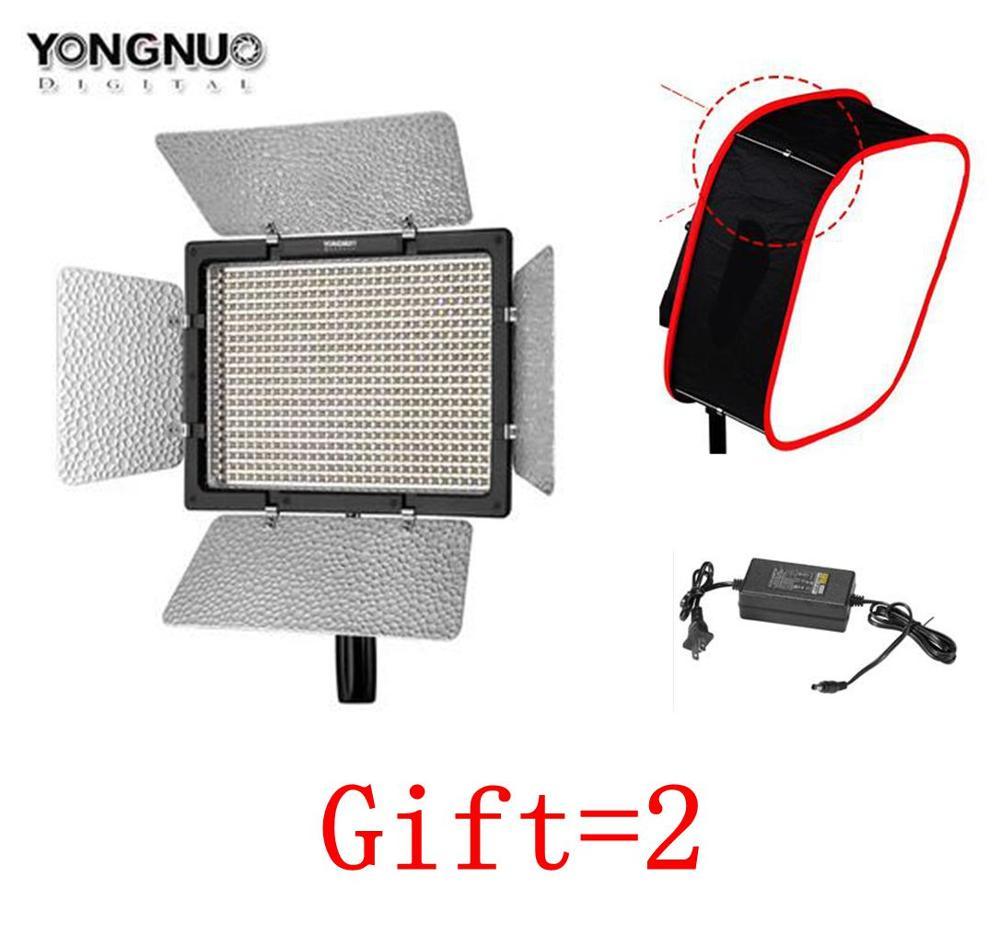 Yongnuo YN600 II YN600L II 5500 k LED Vidéo Lumière + Faucon Yeux AC Adaptateur Ensemble Soutien Télécommande par téléphone App pour Entrevue