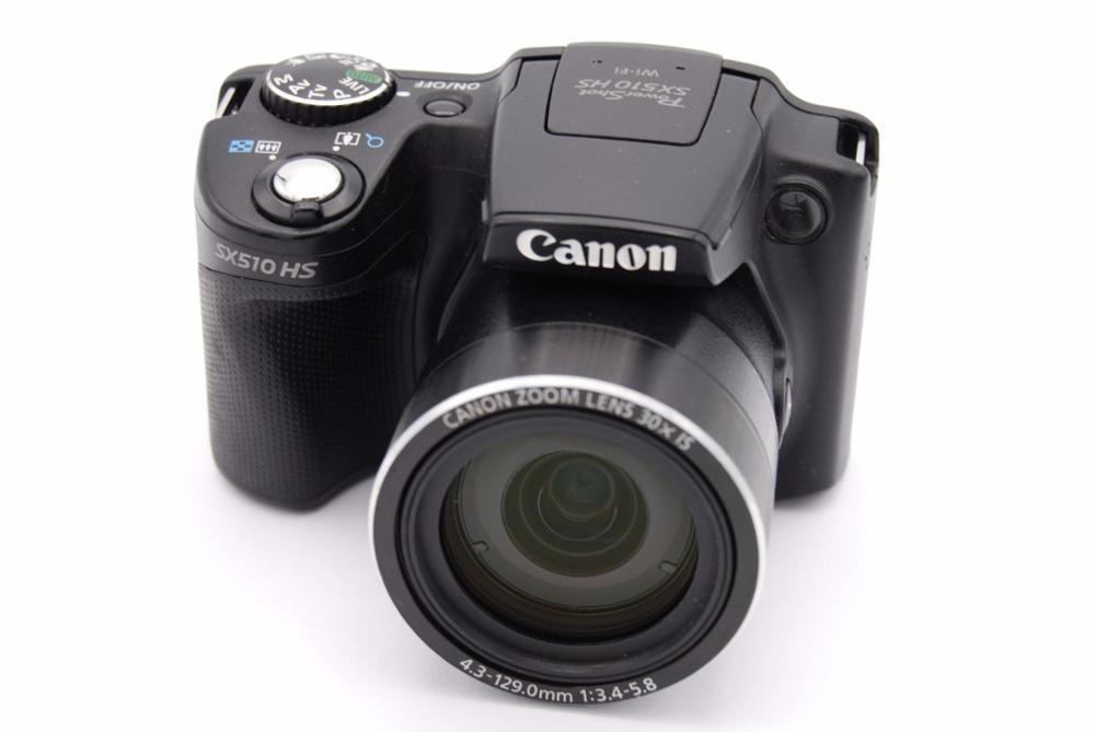 Appareil photo numérique CANON d'occasion POWER_SHOT SX510 HS 12.1MP WIFI IS 30x Zoom optique + 8 GB carte mémoire Suite entièrement testé