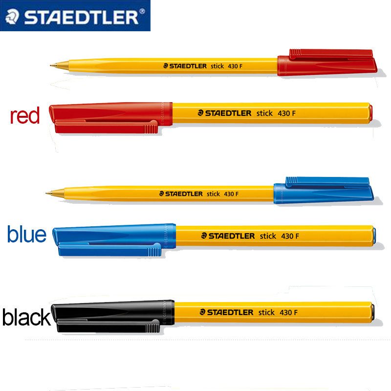 1Pc Staedtler 430F Classic Ballpoint Pen Three Colors Red/Blue/Black 0.5mm Ballpoint Pen Stationery School & Office Supplies