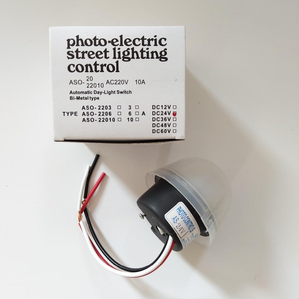 Adjustable sensitive Auto On Off Photocell street Light Switch DC AC 220V 10 qV