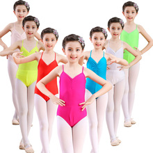 Free shipping Children's camisole exercises costume girls' dancers slippery spandex closed crotch ballet dance leotard JQ-247 dance clothes for children and women camisole clothes cotton spandex ballet body girls backless dance leotard jq 291