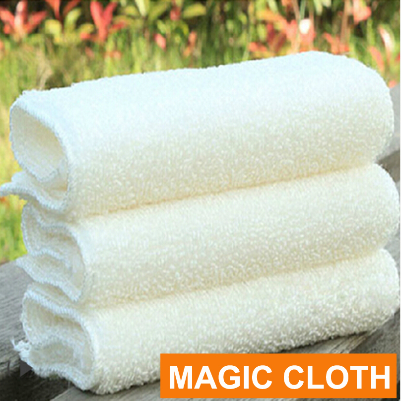 High Efficient ANTI-GREASY Bamboo Fiber Wash Cloth Dishcloth Clean Towel Magic Kitchen Washing Cleaning Cloth Scouring Pad