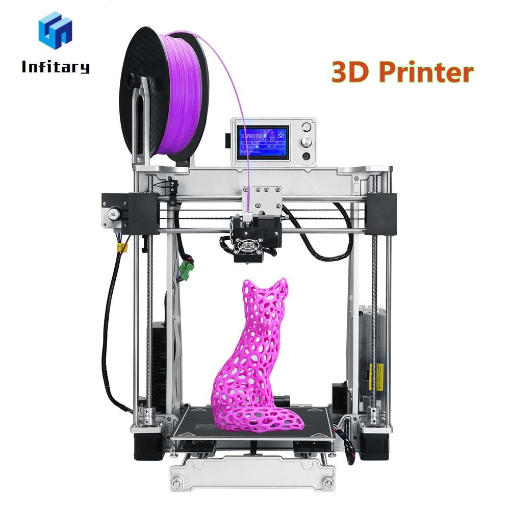 Infitary High precision Reprap 3D Metal Printer DIY kits 3d printing With SD Card and PLA Filaments