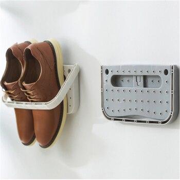 Shoe Holder Foldable Wall Mounted Shoe Rack Folding Shoe Rack Hanging Shelf For Shoes Storage Rack Wall Shelf For Shoes 4 Pcs