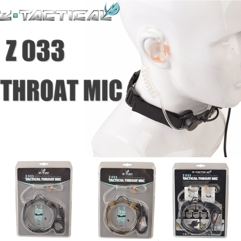Z Tactical Z033 Throat Mic Adapter Tactical Earphone Headset Military Airsoft Paintball Hunting Headphone