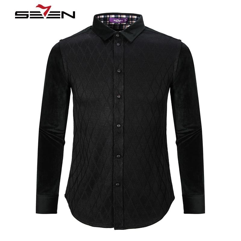 Seven7 luxury brand mens flannel shirts cotton diamond for Best flannel shirt brands