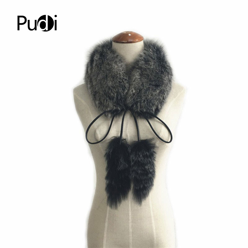 SCF033 The new women's   scarf   Real fox fur   scarf   women fashion genuine Fur   Scarves     Wrap   Neck Warmer Shawl Collar winter   scarf