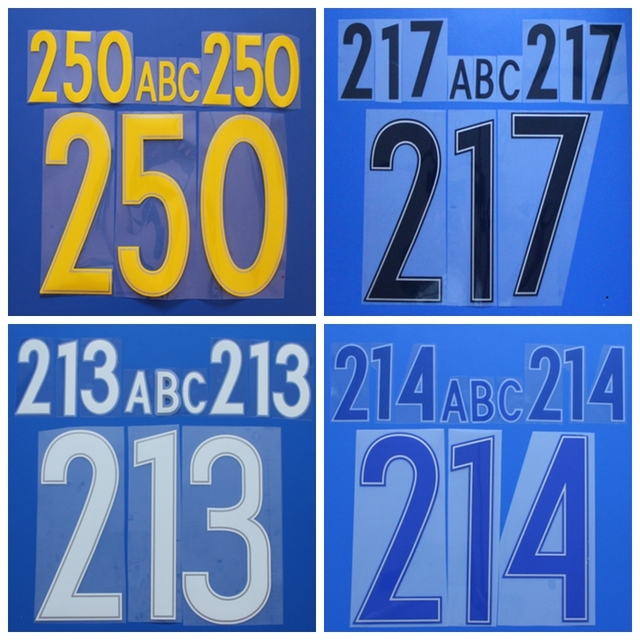 d27c2121abd New High quality customization DIY football name number font print,Hot  stamping Soccer patches badges