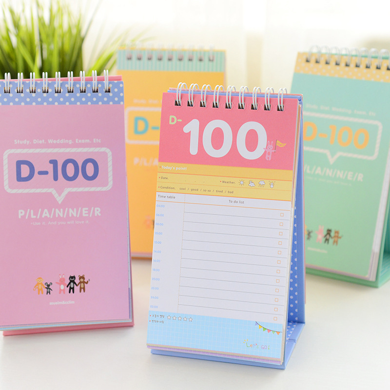 2019 Desktop Calendar 100-day Planner Countdown Study Efficiency Plan Notebook College Entrance Examination Weight Loss Schedule2019 Desktop Calendar 100-day Planner Countdown Study Efficiency Plan Notebook College Entrance Examination Weight Loss Schedule