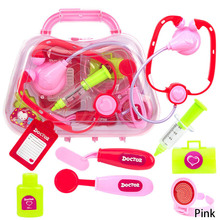 8pcs Set child medical kit doctor font b toys b font for girls kids role play