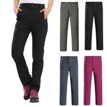 купить!  Женские зимние водонепроницаемые более толстые брюки плюс бархатные штаны для удара Теплые толстые