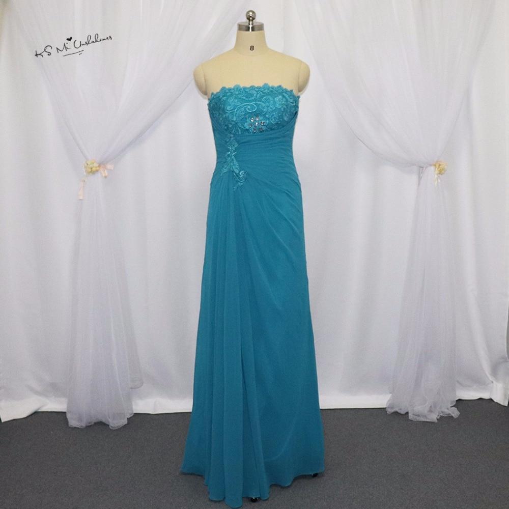 Turquoise mère de la mariée en mousseline de soie pantalon costumes de mariage grande taille Vestidos Madre de Novia longues robes de mère avec veste en dentelle - 3
