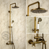 2013 New Arrival Antique Bathroom Shower Set Copper Hot And Cold Shower Faucet American Classical Tub