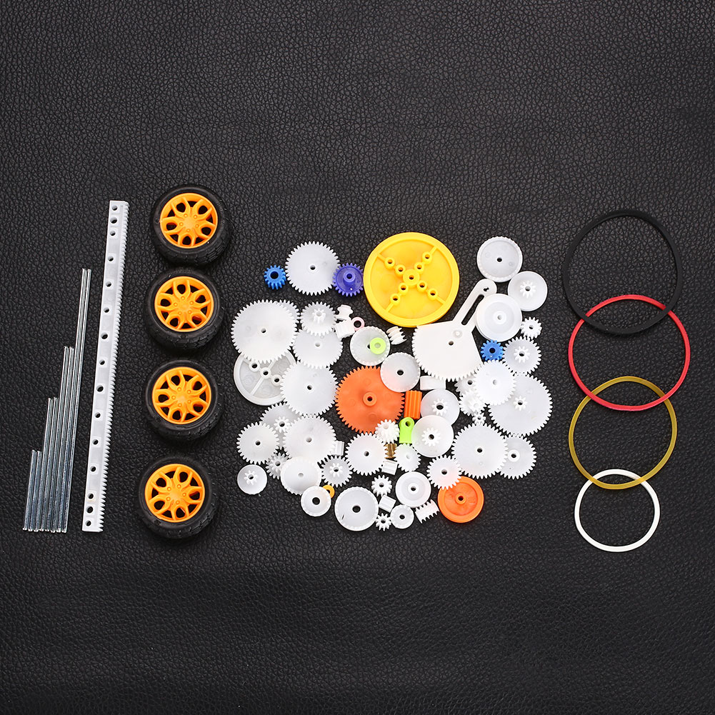 Gears DIY Spindle Motor Gear 78PCS Kits Wheels <font><b>Pulley</b></font> <font><b>Car</b></font> Model Elaborate Quadcopter Gear <font><b>Car</b></font> Spart Diy Toy Helicopter image