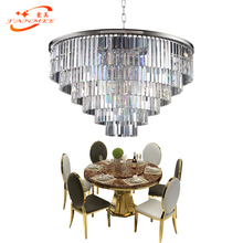 Vintage Retro Odeon Chandelier Lighting K9 Crystal Hanging Light LED Lamp Decorative