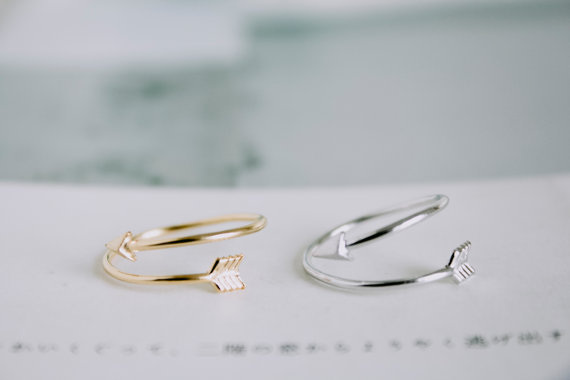 Fashion jewelry cute arrow finger ring stretch rings for for Jewelry storm arrow ring