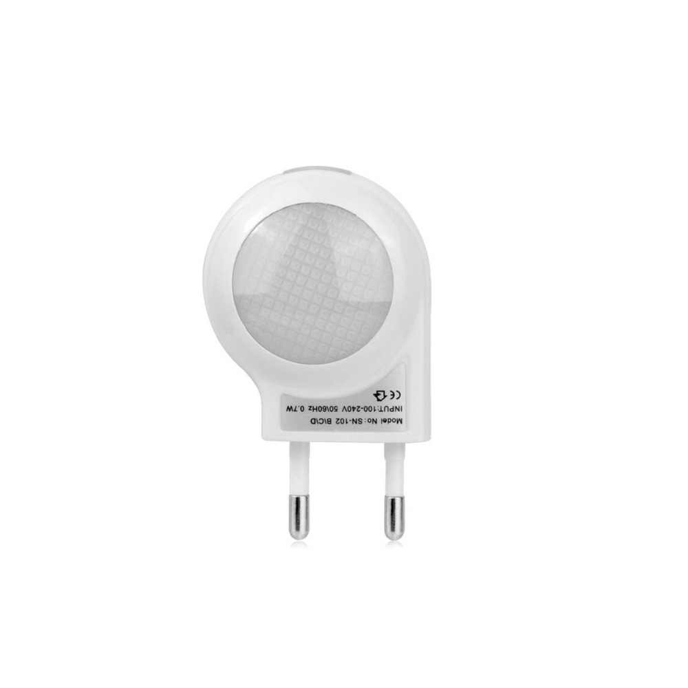 Smart On Off Wall Lamp Mini Night Light AC 220V LED Bulb EU Plug Light Sensor Control Lamp Baby Kids Bedroom Emergency Lighting