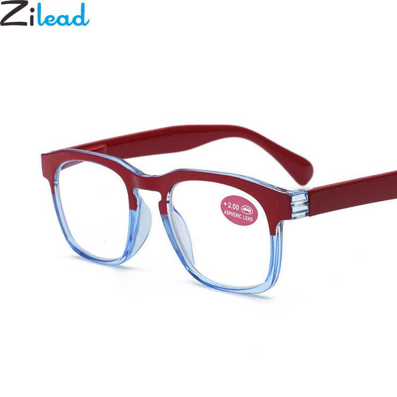 928bf73e44 Zilead Retro Gradient Anti Blue-ray Reading Glasses Ultraligh Big Frame  Clear Lens Presbyopic Glasses