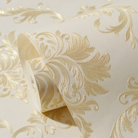 Beibehang Self Adhesive European 3d Wallpaper Non Woven Luxury European Damascus Wall Paper Bedroom Living Room