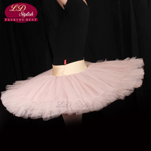 10pcs Women Half Ballet Tutu Adult Dresses Ballerina Skirt Girls 7 Layers Of Tulle LD0002S