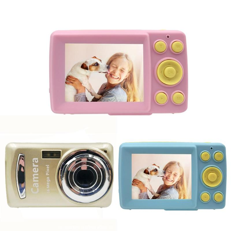 Kids 2 Inch HD Screen Digital Mini Camera Toy With 32G Card Children Automatic Shoot Cameras 1600W Video Resolution