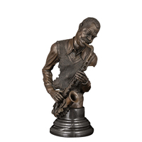 ArtsHom DS 056 Hotel decoration Bronze Black Musician Bust Music Performer Figurines sculpture for home decoration accessories