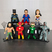 Good PVC 7 Styles Justice League Action Figure Superman Wonder Woman The Flash Aquaman Anime Model Toy Collectibles Gift 410g