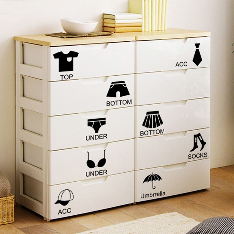 1 pcs hot black wardrobe storage sort display window stickers art decals home drawer wall decor room decoration in wall stickers from home garden on