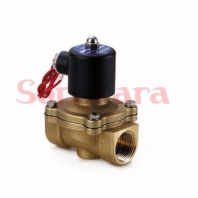 AC380V 2 Port 2W-250-25 1BSP Brass Water Air Oil Electromagnetic Valve Solenoid Valves N/C 3 8 electric solenoid valve water air n c all brass valve body 2w040 10 dc12v ac110v