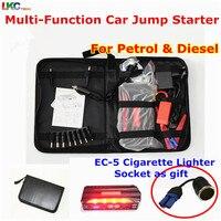 Multifunction Car Jump Starter Emergency Portable Power Bank 4USB Power Vehicle Start Jumper Auto Battery Booster Starter