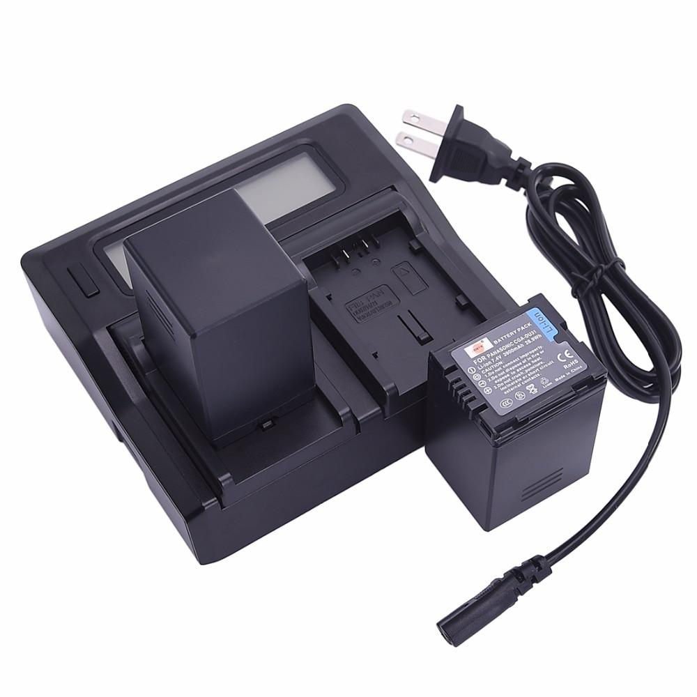 DSTE 2x CGA-DU31 VW-VBD310 Battery + 1.5A Dual USB Battery Charger for Panasonic DZ-GX20 GX25M MV350 MV380 MV550 Camera