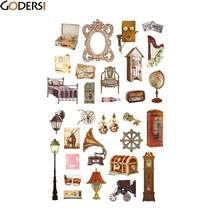godersi animal car number letter diary bubble stickers diy kawaii scrapbooking paper car sticker stationery supplies qct9680